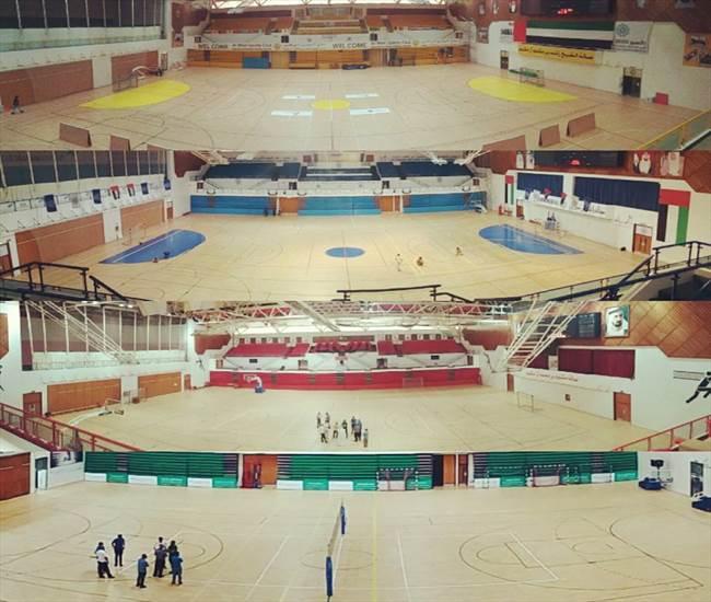 DUBAI 4 sport hall with sport PARQUET model SPLUGA