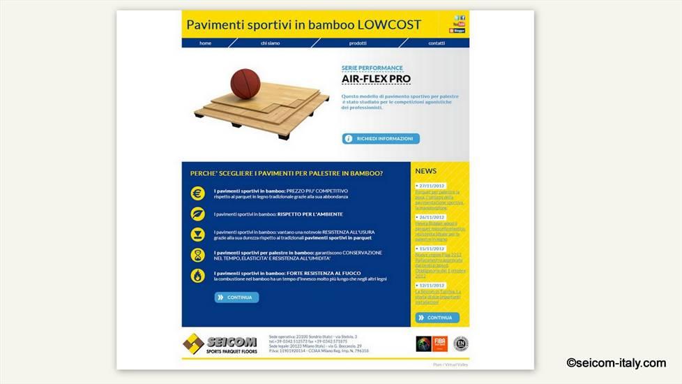 On line da oggi il nuovo sito dedicato ai pavimenti sportivi in bambù per palestre