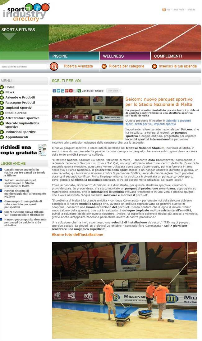 Sport Industry Directory parla di noi