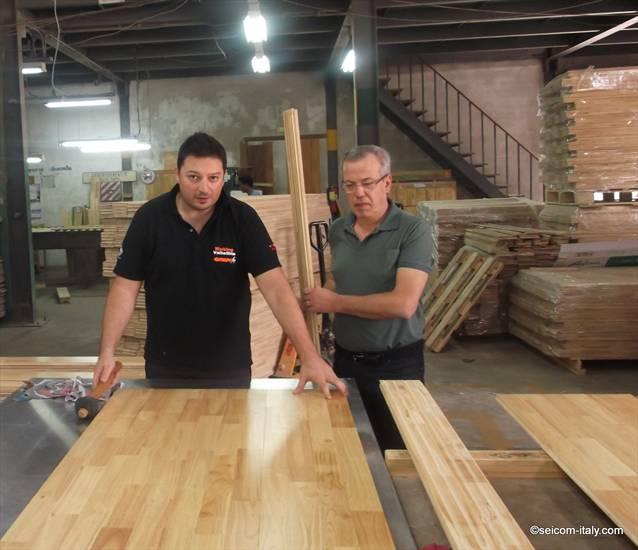 Hevea Rubber wood il parquet massello elastico, resistente ideale per le palestre in legno