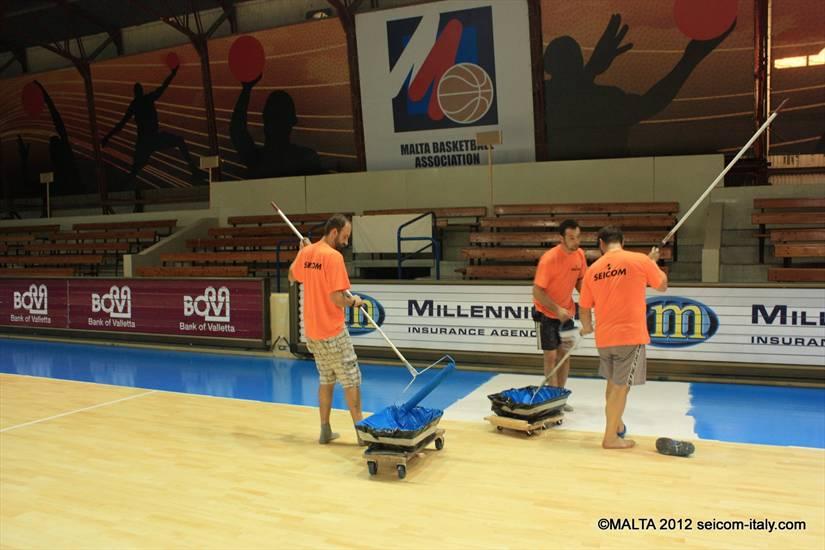 MALTA October 2012 - New parquet floor sports center Ta