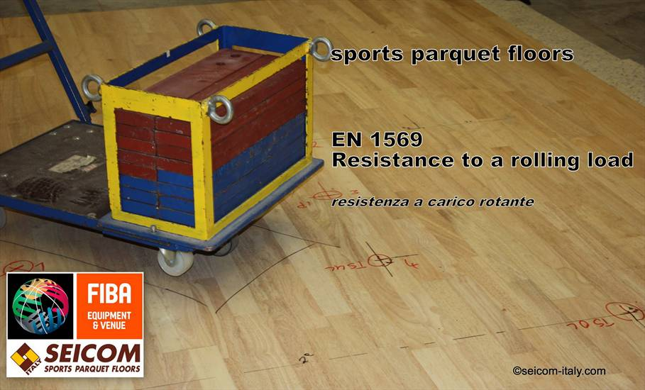 SPORTS PARQUET FLOORS Rolling Load EN 1569