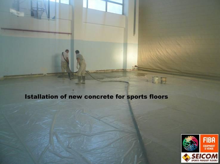 SPORTS PARQUET FLOORS beton and concrete